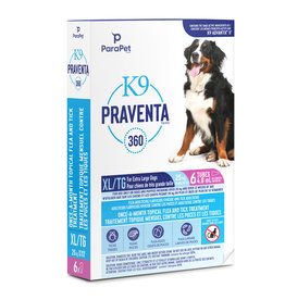 K9 Praventa K9 Praventa 360 Flea & Tick Treatment - Extra Large Dogs over 25 kg - 6 Tubes