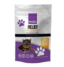 Happy Paws Happy Pawz Relief Hemp 1mg Chews 150g