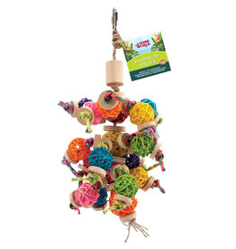 LIVING WORLD Living World Tropical Trove Foraging Mobile with Wicker Balls Bird Toy