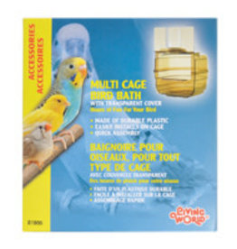 LIVING WORLD Living World Outside Bird Bath - Clear Plastic - 10 x 11 x 13 cm