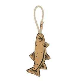 """Tall Tails Tall Tails 16"""" Natural Leather & Wool Dog Trout"""