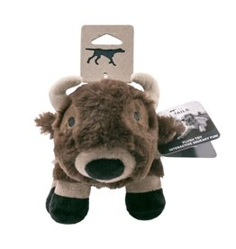"""Tall Tails Tall Tails 9""""Plush Buffalo Squeaker Toy"""