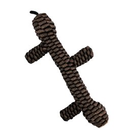 """Tall Tails Tall Tails 9"""" Braided Stick Toy- Brown"""