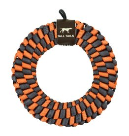 """Tall Tails Tall Tails 6"""" Braided Ring Toy- Orange"""