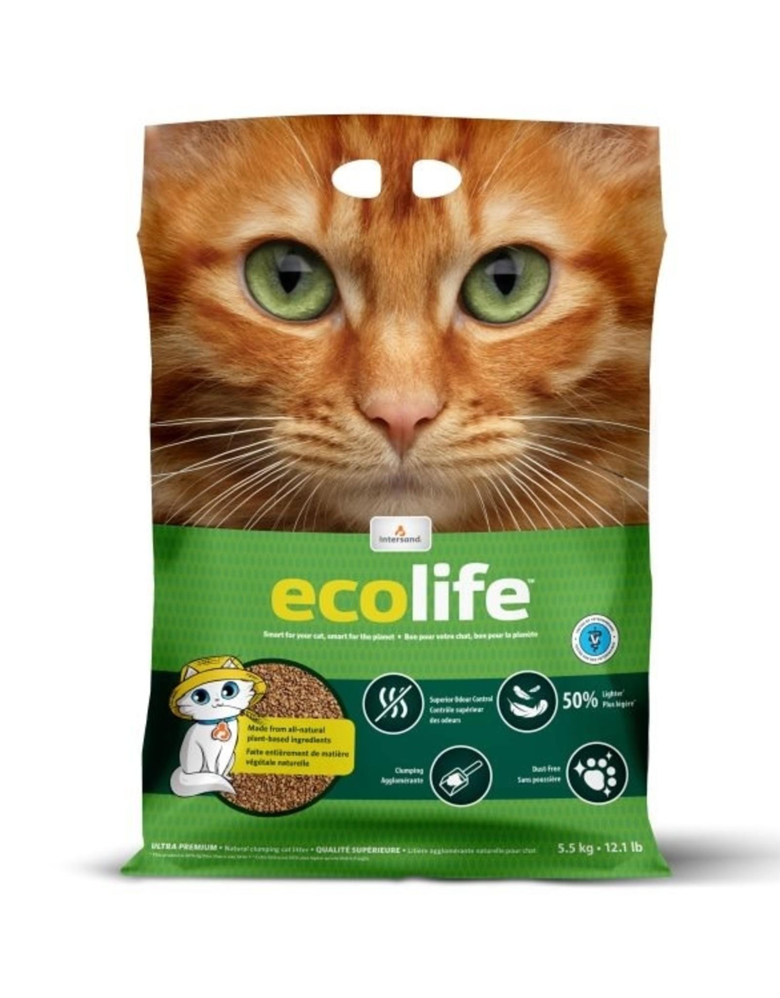 INTERSAND Ecolife Natural Clumping Litter 5.5kg