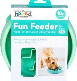 OUTWARD HOUND Fun Feeder Slo-Bowl Mint Tiny | 3/4 Cup