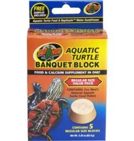 ZOO MED LABORATORIES Zoo Med Aquatic Turtle Banquet Block - Regular Size 5 Pack