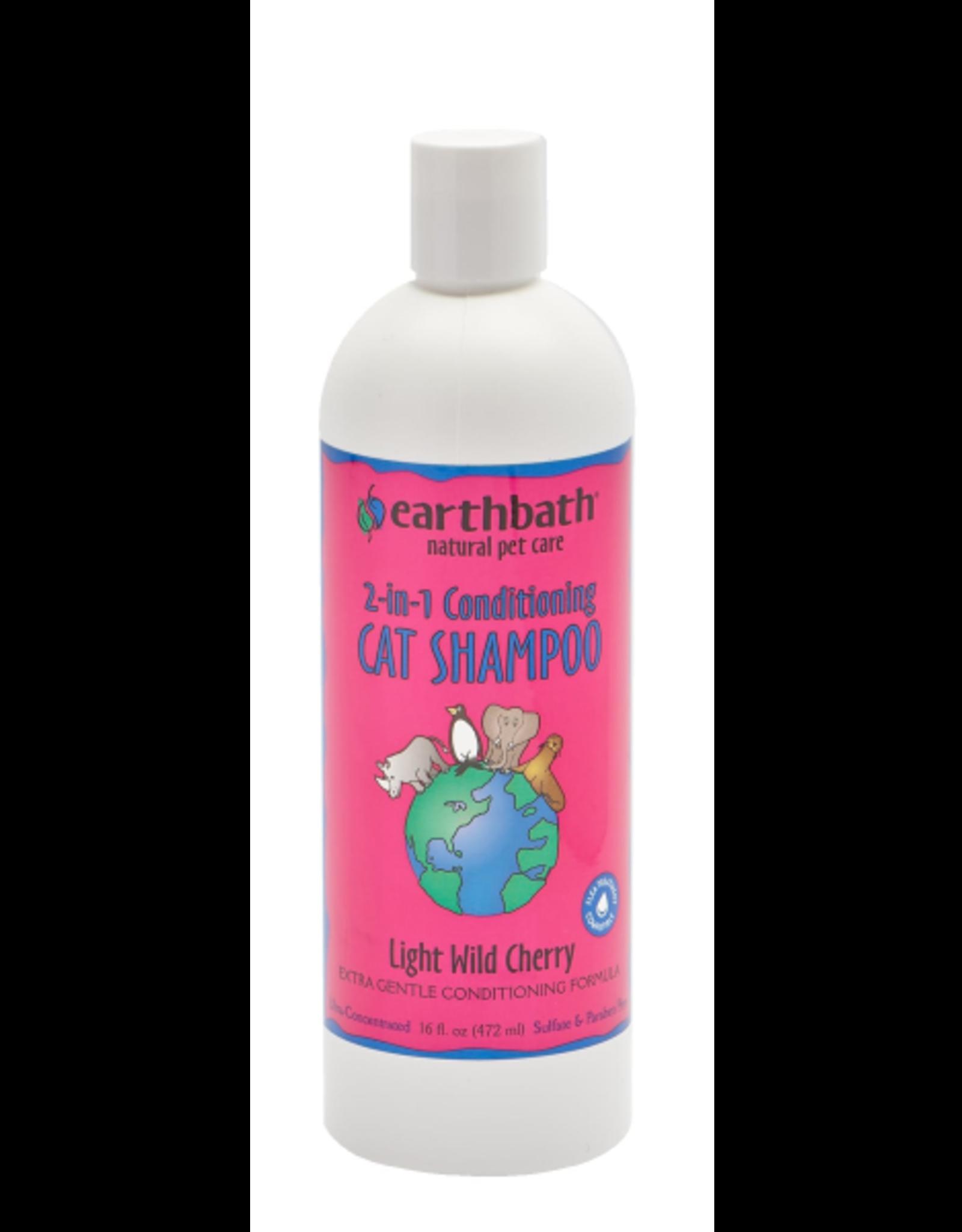 EARTH BATH earthbath 2-in-1 Cond. Cat Shampoo Wild Cherry 16 oz