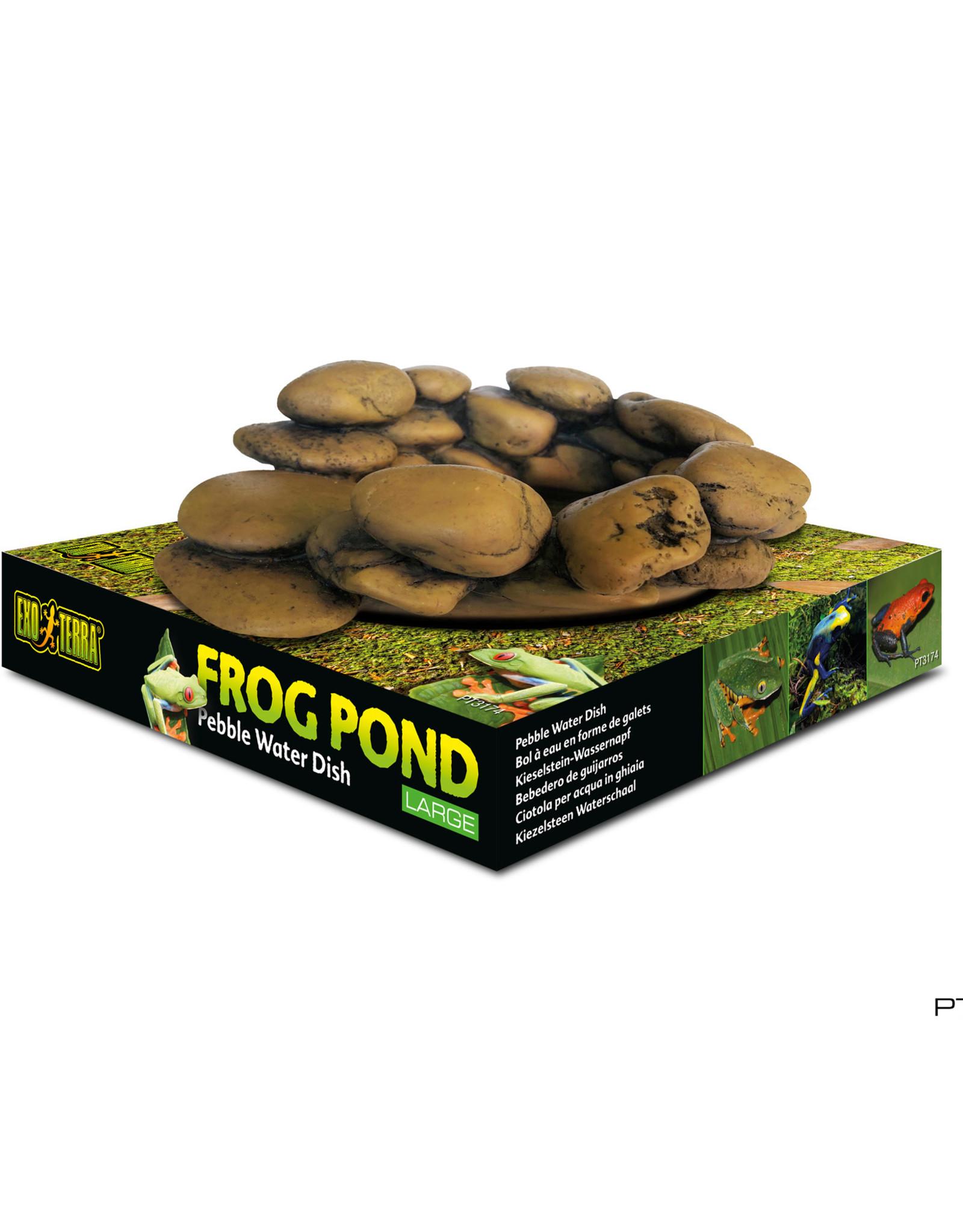 EXO-TERRA Exo Terra Frog Pond - Large - 15 L x 12,5 W x 5,5 H cm (6 x 5 x 2.2 in) – capacity 110 mL