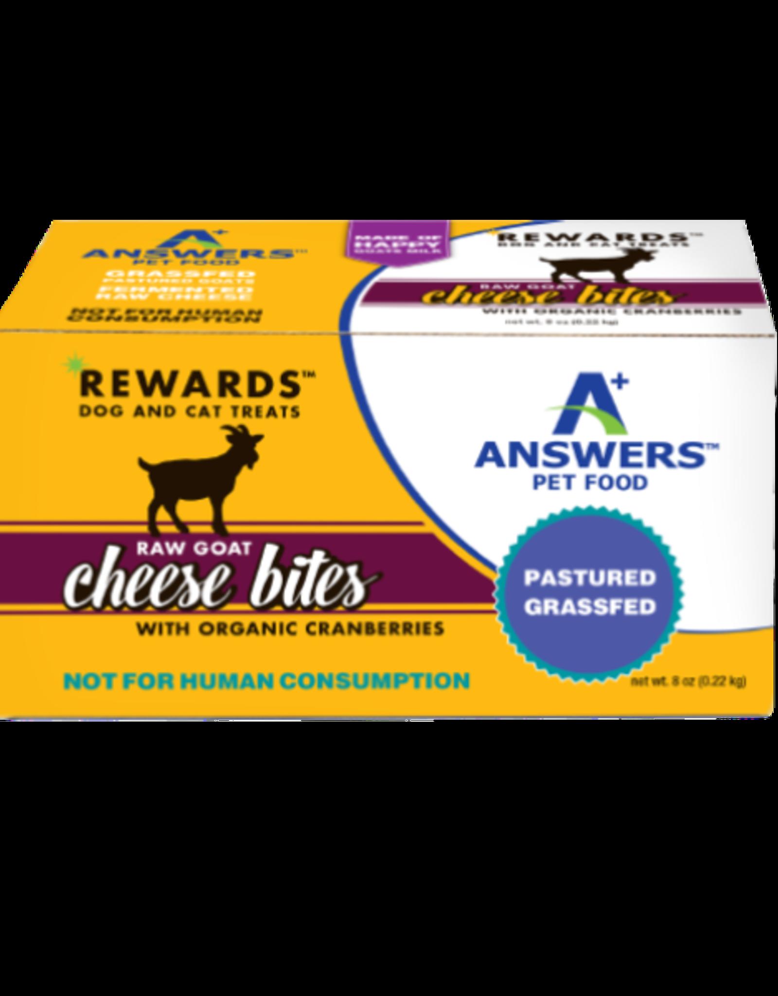 Answers Answers Rewards Raw Goat Milk Cheese Treat w Cranberries 8oz