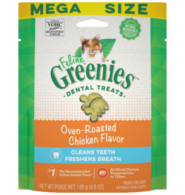 Feline Greenies GREENIES | Dental Treat Oven RoastedChicken 4.6OZ Cat