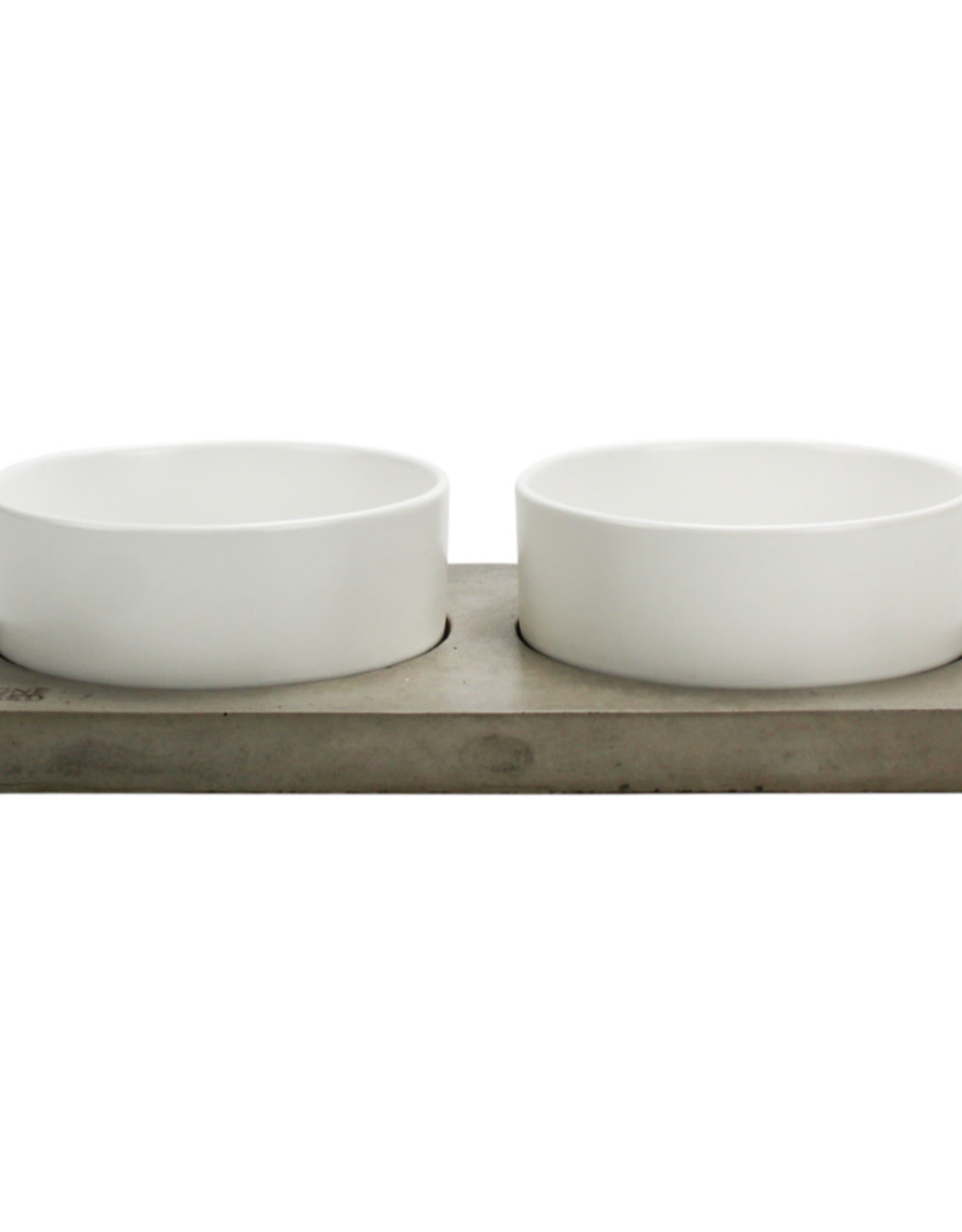 BE ONE BREED Be One Breed Ceramic and Concrete Bowl Duo