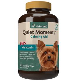 NaturVet Quiet Moments+Melatonin Time Release 60CT