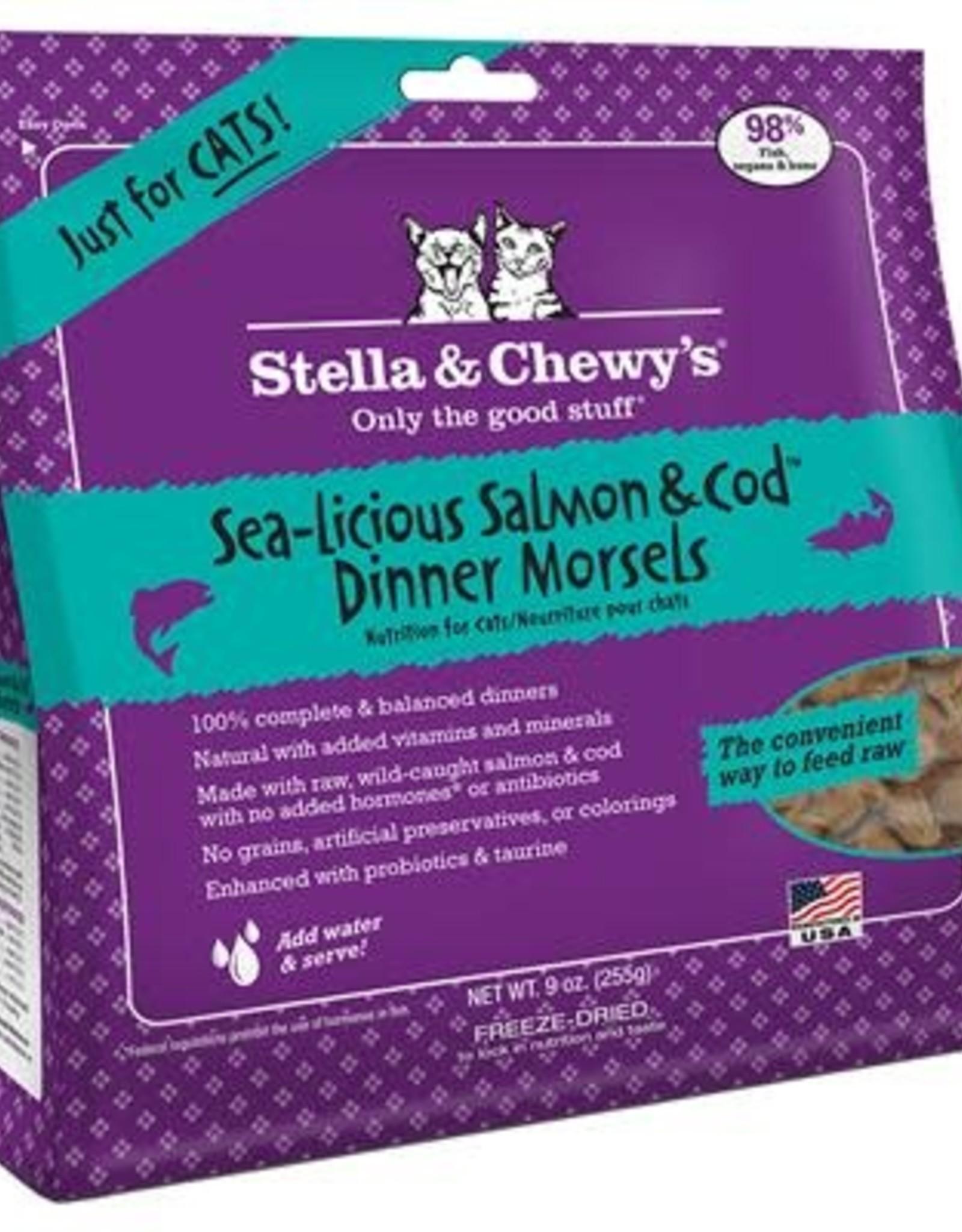 Stella & chewy's Stella & Chewy's FD Dinner Morsels Salmon & Cod 8OZ Cat