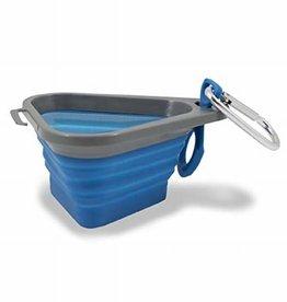 Kurgo Kurgo Mash & Stash Collapsible bowl -Mini Blue/Grey