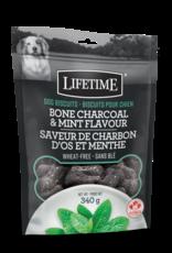 Lifetime Bone Charcoal & Mint Dog Biscuits- Lifetime (340g)