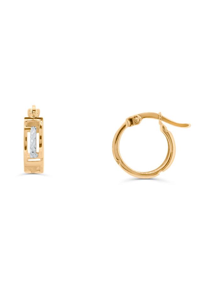 Boucles d'oreilles anneau versache en 2T 10K