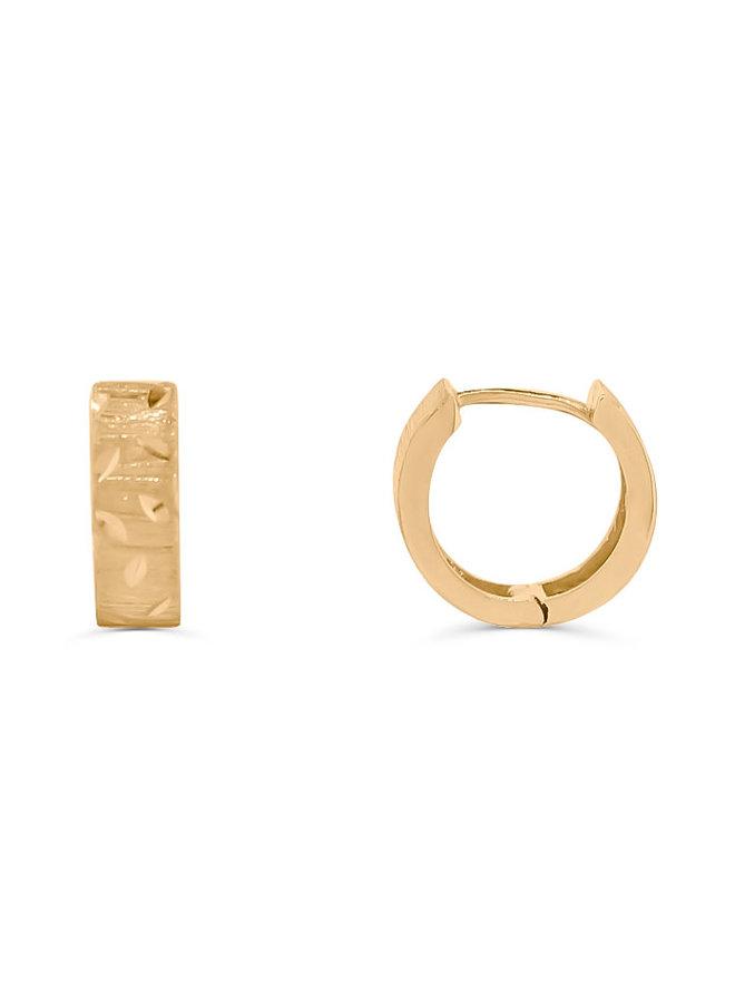 Boucles d'oreilles anneaux or jaune 10K