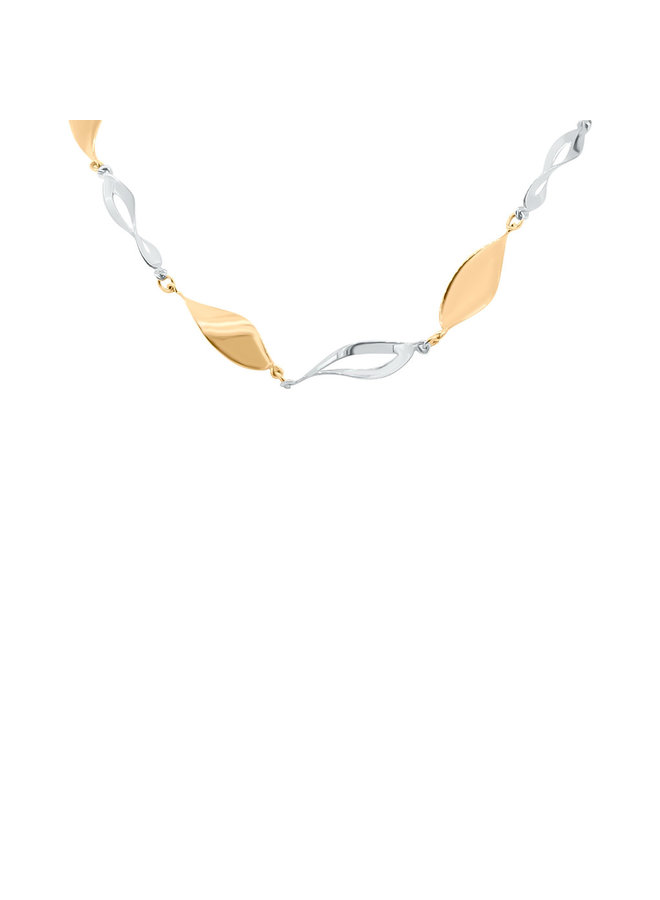 Collier 10k 2 tons 18''