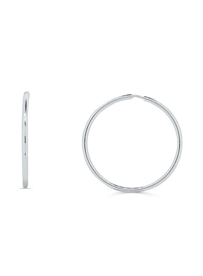 Boucles d'oreilles anneaux 10k blanc