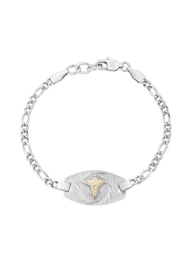 Bracelet medical acier 7.5''