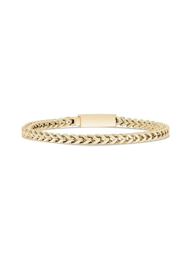 Bracelet acier doré 8'' franco 4mm
