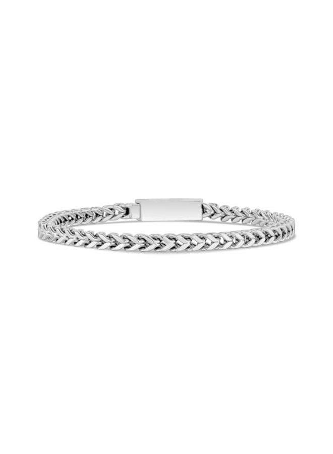 Bracelet figaro en acier inoxydable de 4 mm