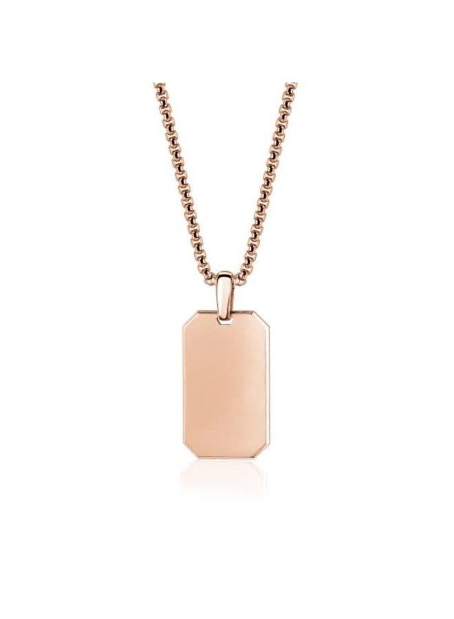 Pendentif plaqué en or rose avec chaîne de 26''