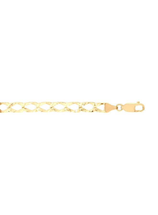 Bracelet 10k jaune gourmette diamond cut