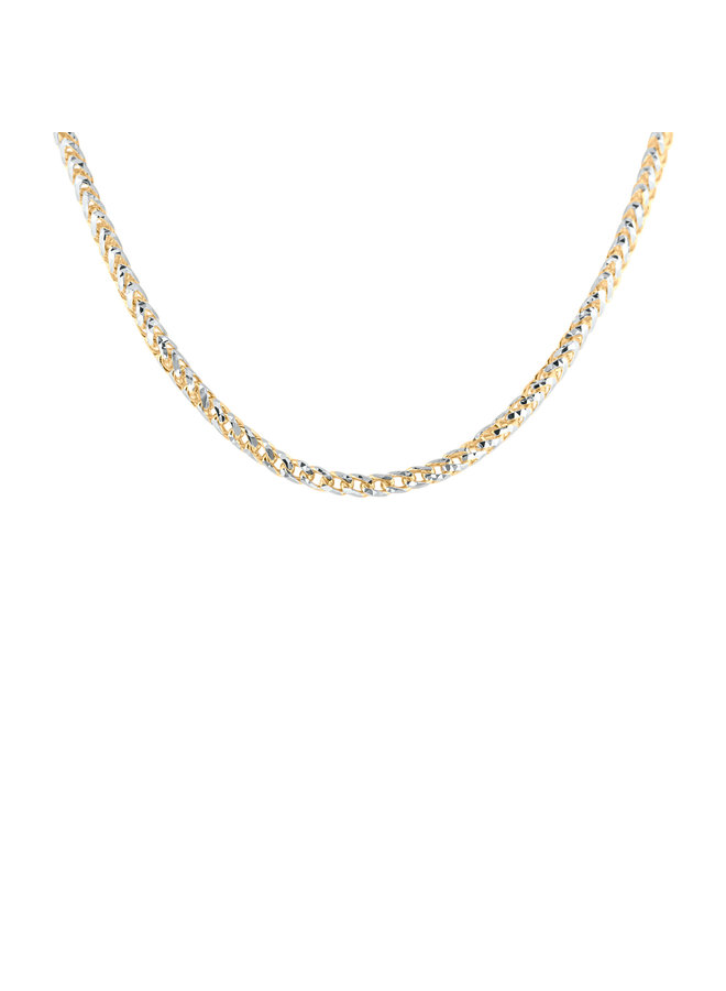 Chaine 10k 2 tons 22'' franco diamond cut 3mm