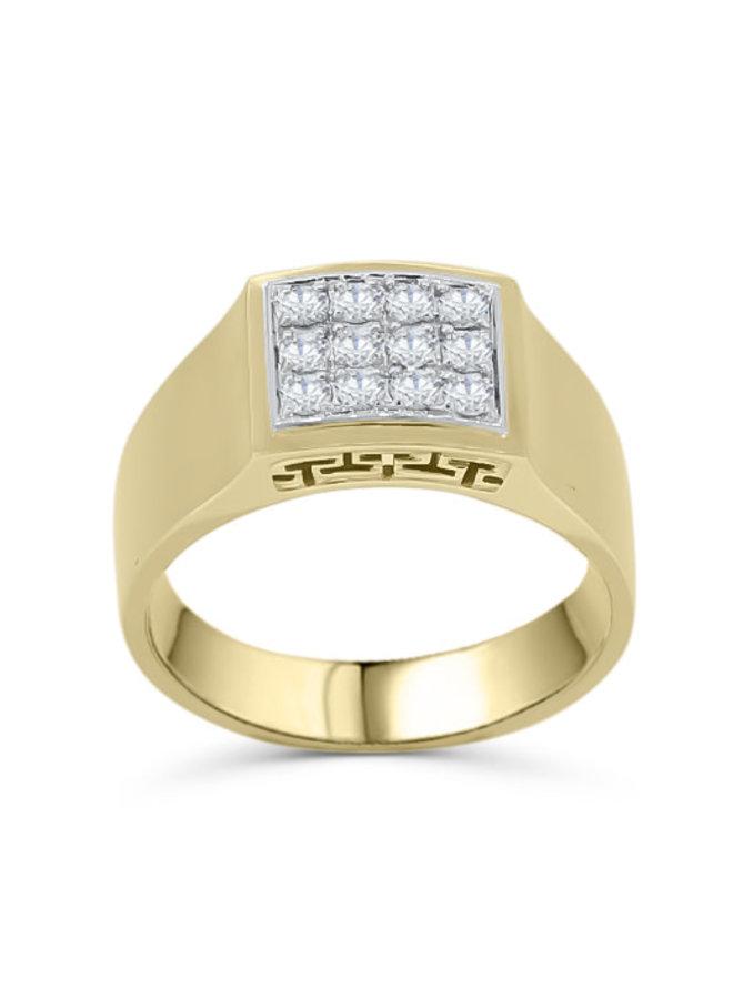 Bague 10k pour homme diamants