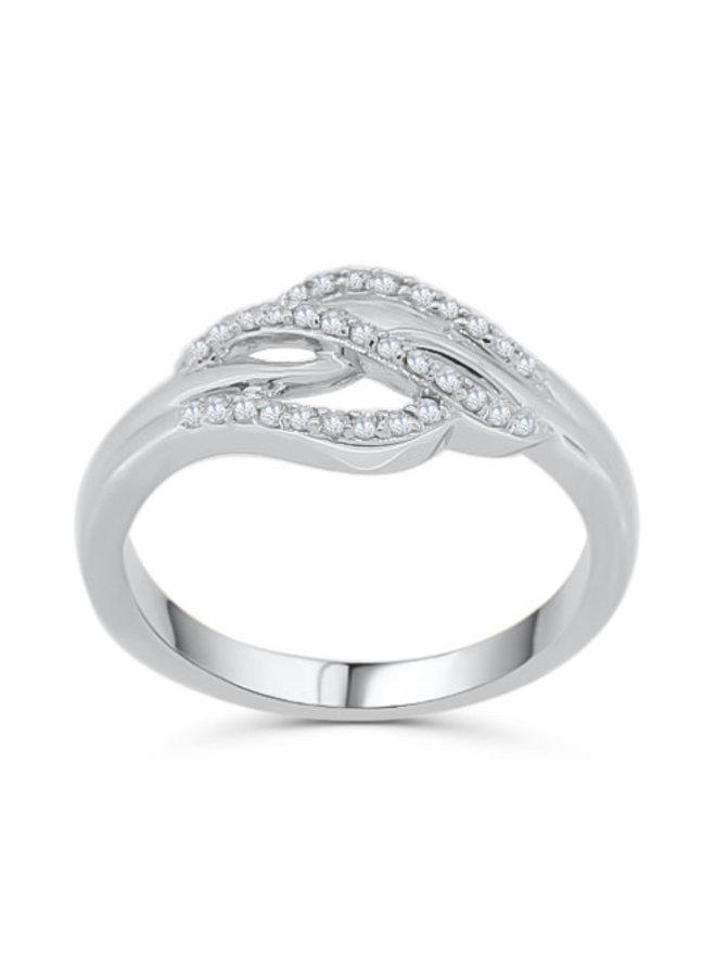 Bague à diamants blanc 10k