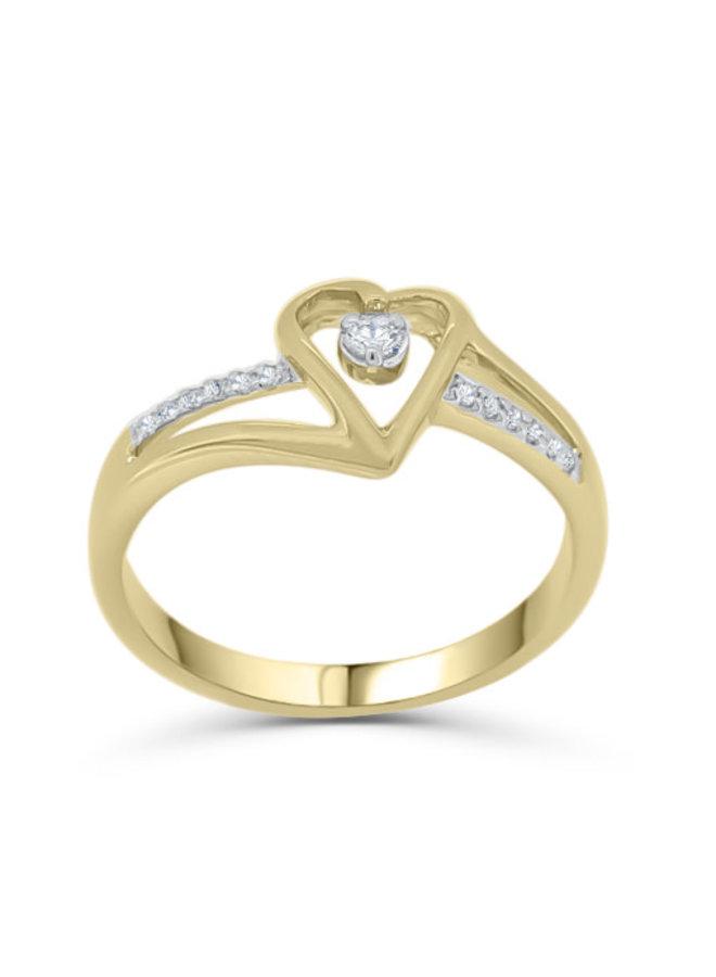 Bague à diamants 10k or jaune