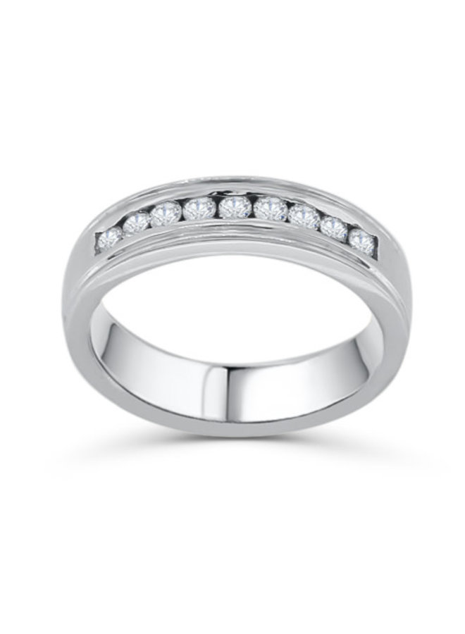 Jonc semi-éternité à diamants 10k
