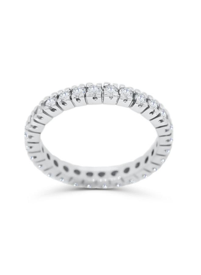Jonc éternité à diamants or blanc 14k