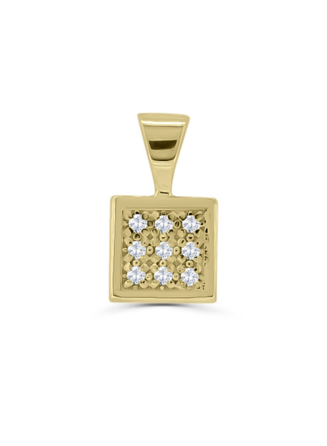 Pendentif à diamants or jaune 10k