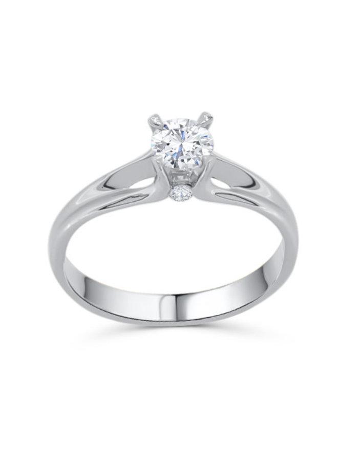 Solitaire à diamant platine