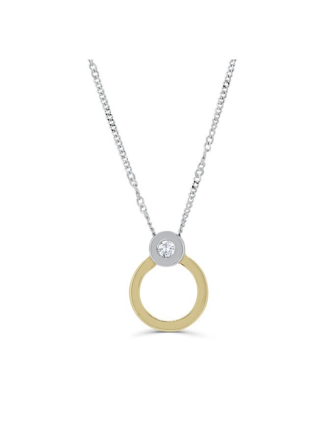 Ensemble à diamant en or 2 tons 10k