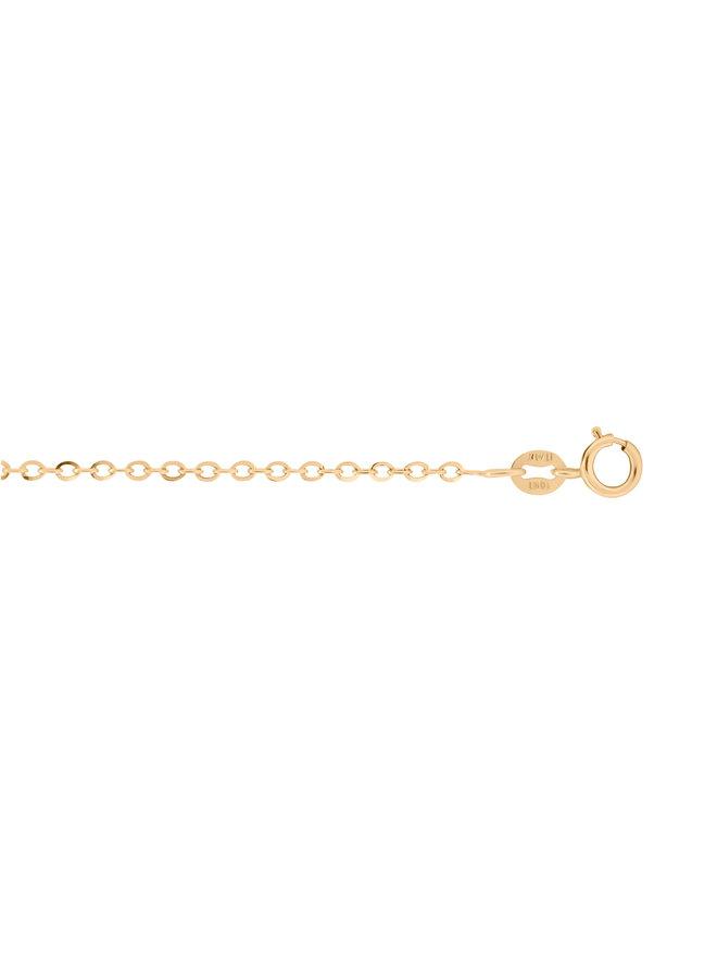 Chaîne 10k jaune cable 16'' style L2440