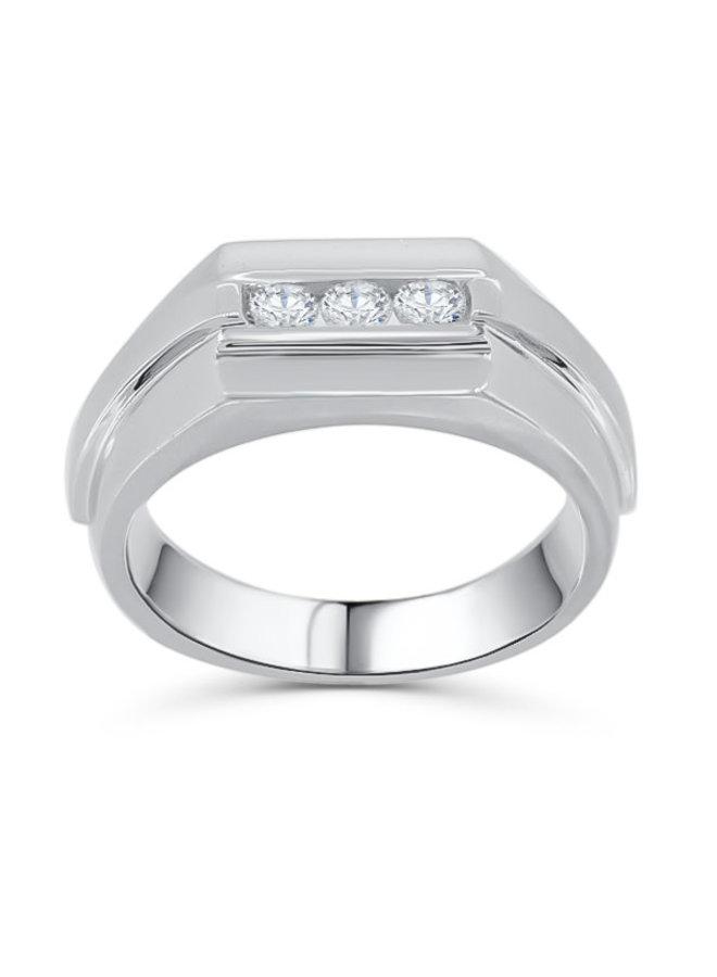 Jonc pour dame à diamants or blanc 14k