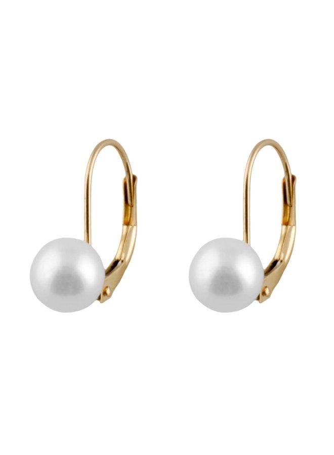 Boucles d'oreilles perles d'eau salée 6 mm