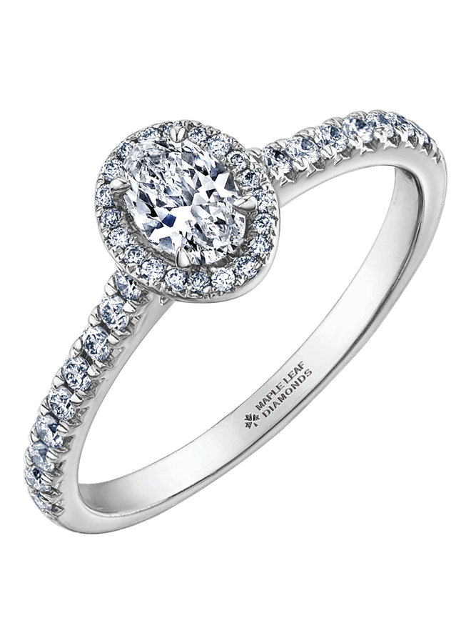 Bague or bl 18k dia oval=0.30ct 18=0.18ct 20=0.06ct I GH