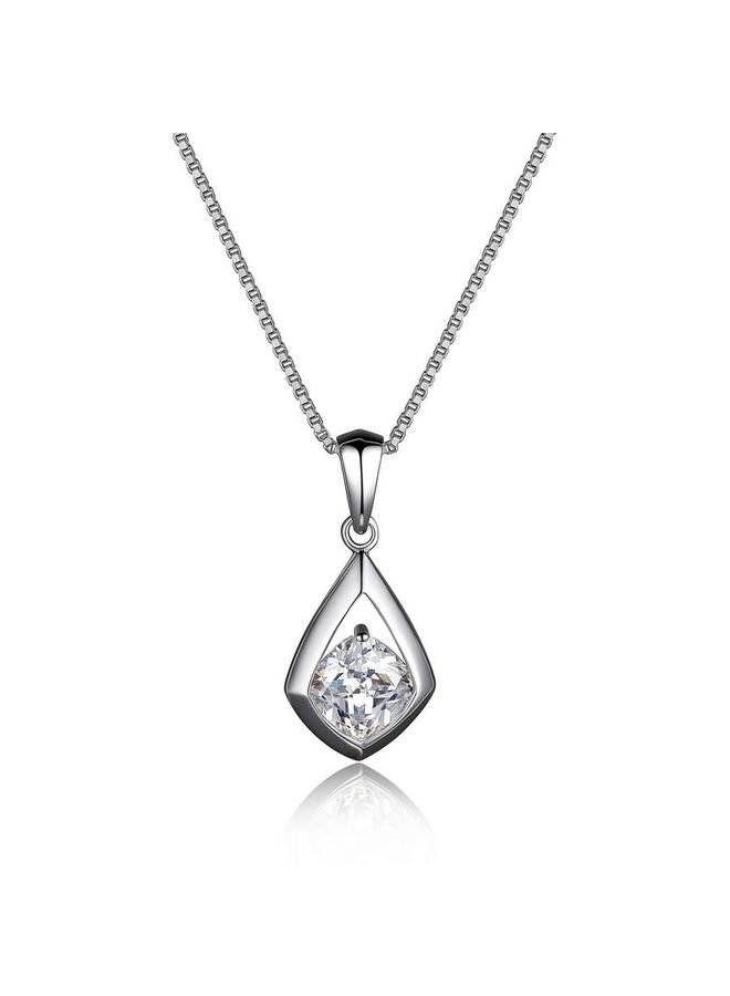 Sterling Silver Rhodium Plated Cubic