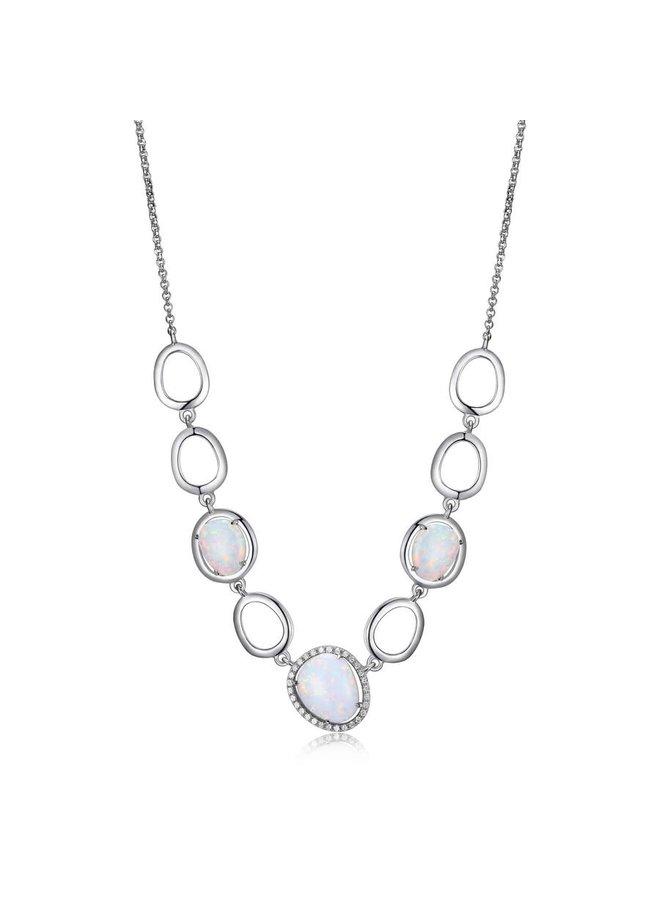 Collier Elle opal synthetique zircon