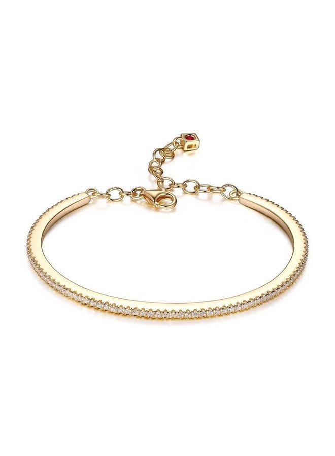 Bracelet rigide .925 dorée zircon 6.75''