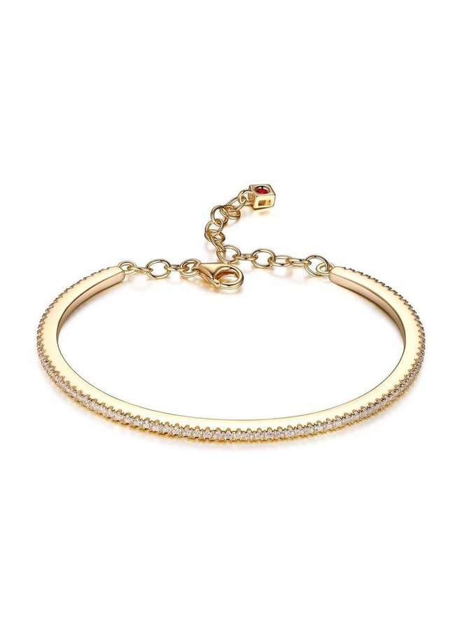 """SS ELLE """"SPHERE"""" CZ  BANGLE  IN  GOLD PLATING."""