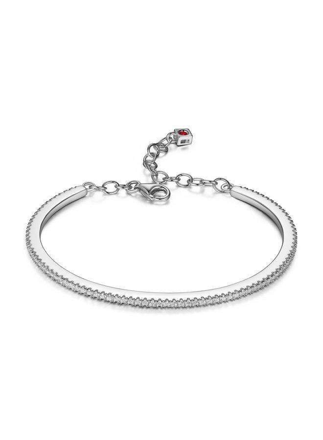 Bracelet rigide .925 zircon 6.75''