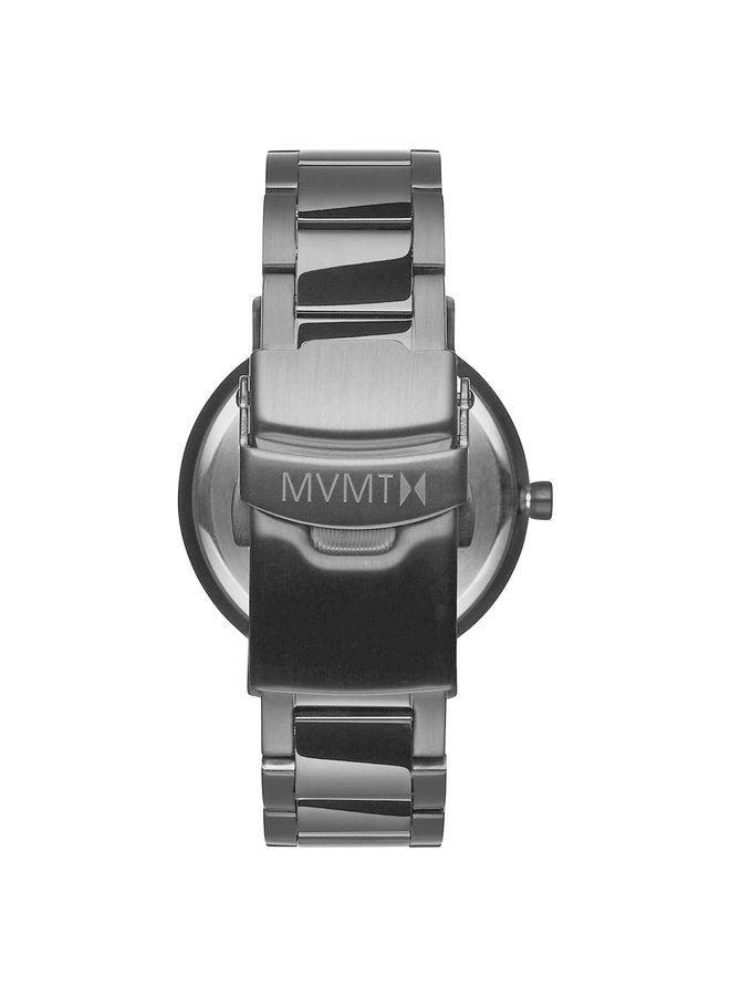 MVMT dame acier noir fond noir 34mm