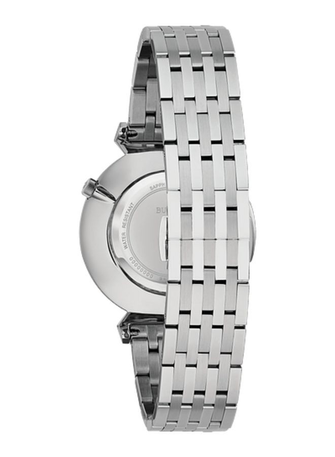 Bulova homme acier fond blanc verre sapphir 38mm