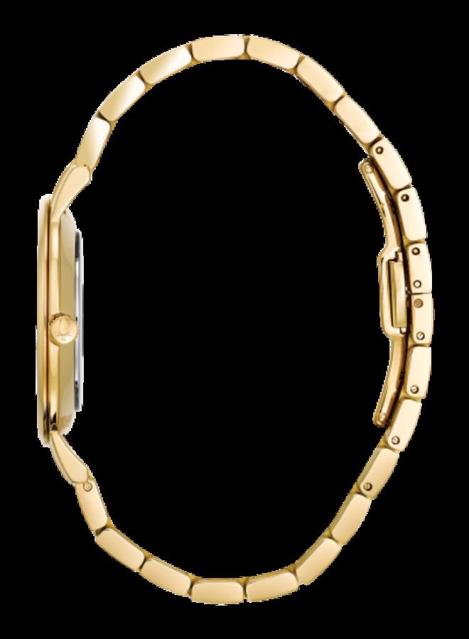Bulova dame acier doré diamant 36mm